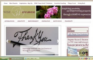 WiseWellWomen.com Homepage screenshot