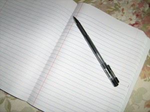 Image of Blank Journal Paper and Pen